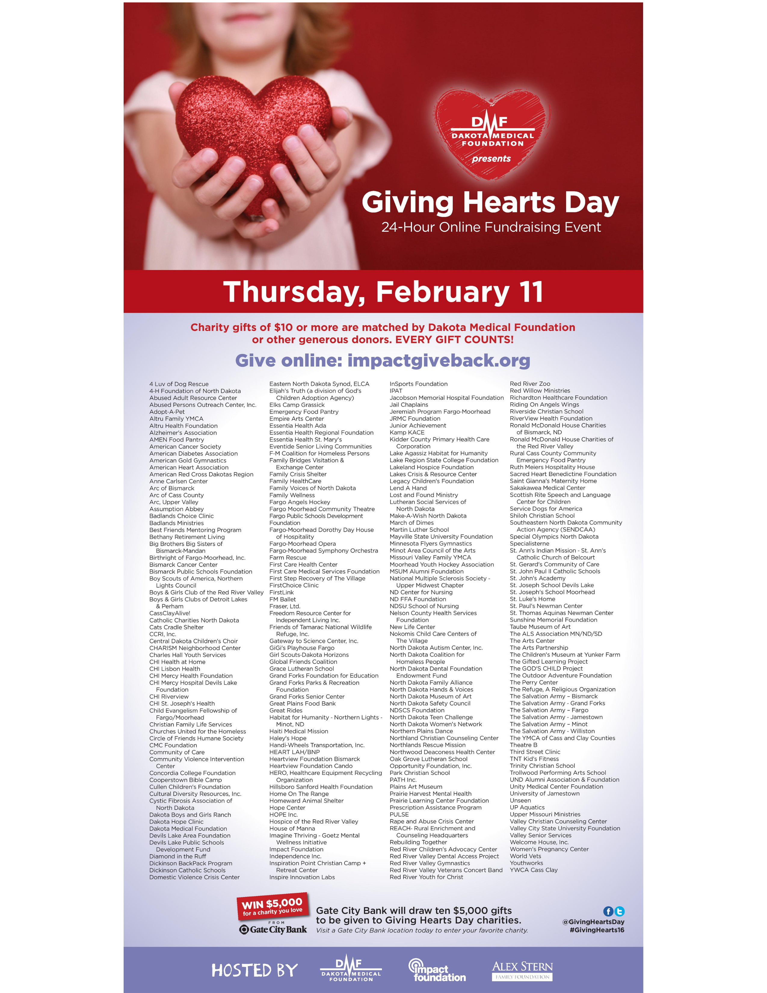 Dakota Medical Foundation creative for Giving Hearts Day- Client Focused Media