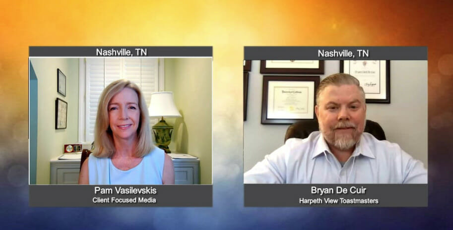 """""""Making a Difference"""" with Bryan De Cuir from Harpeth View Toastmasters"""