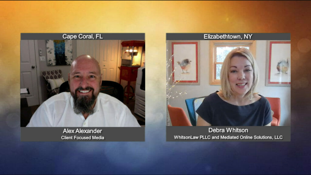 """""""Ask the Attorney"""" with Debra Whitson from WhitsonLaw PLLC and Mediated Online Solutions, LLC"""